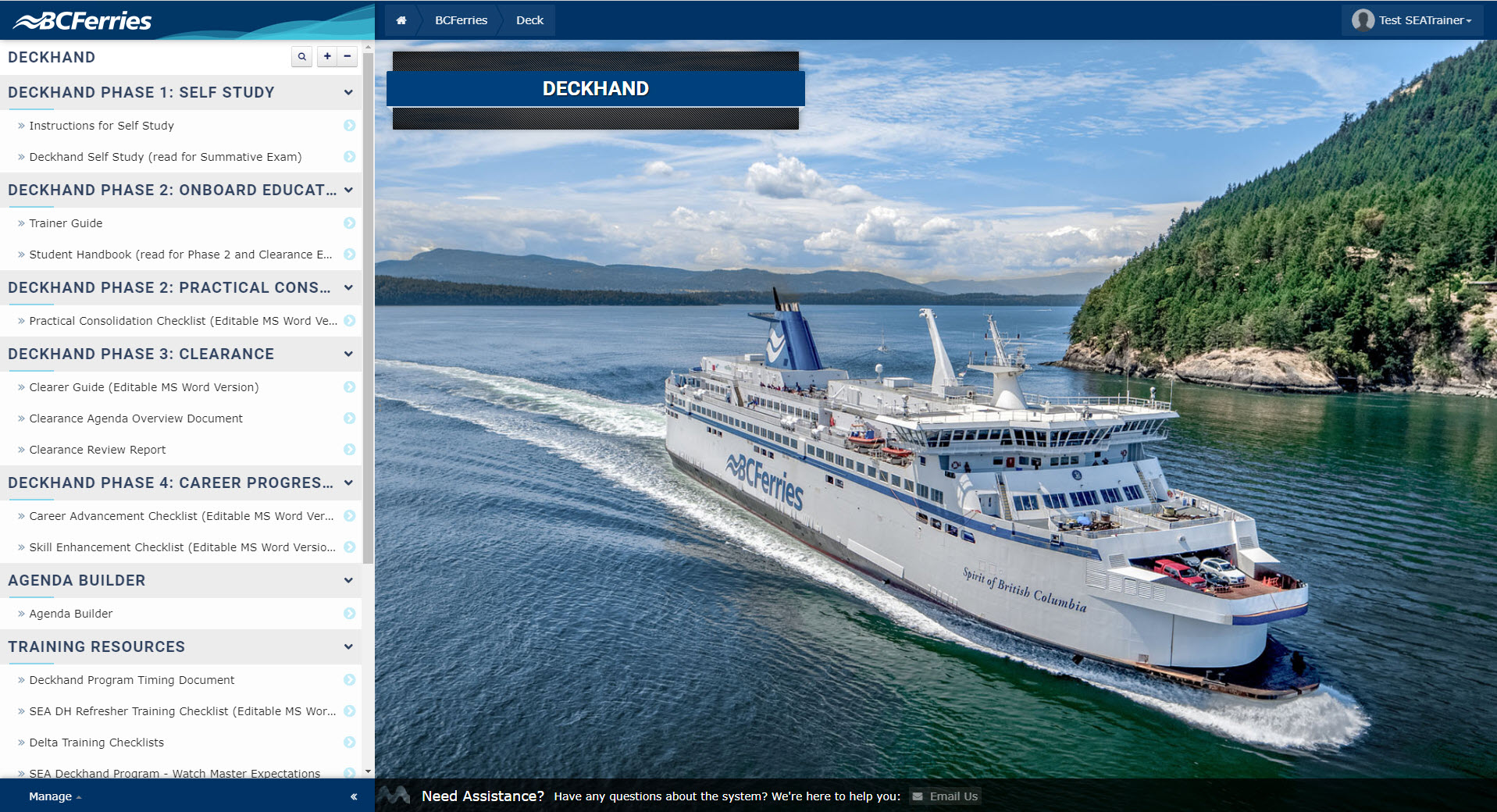 SEA-LMS-Deckhand-Homepage
