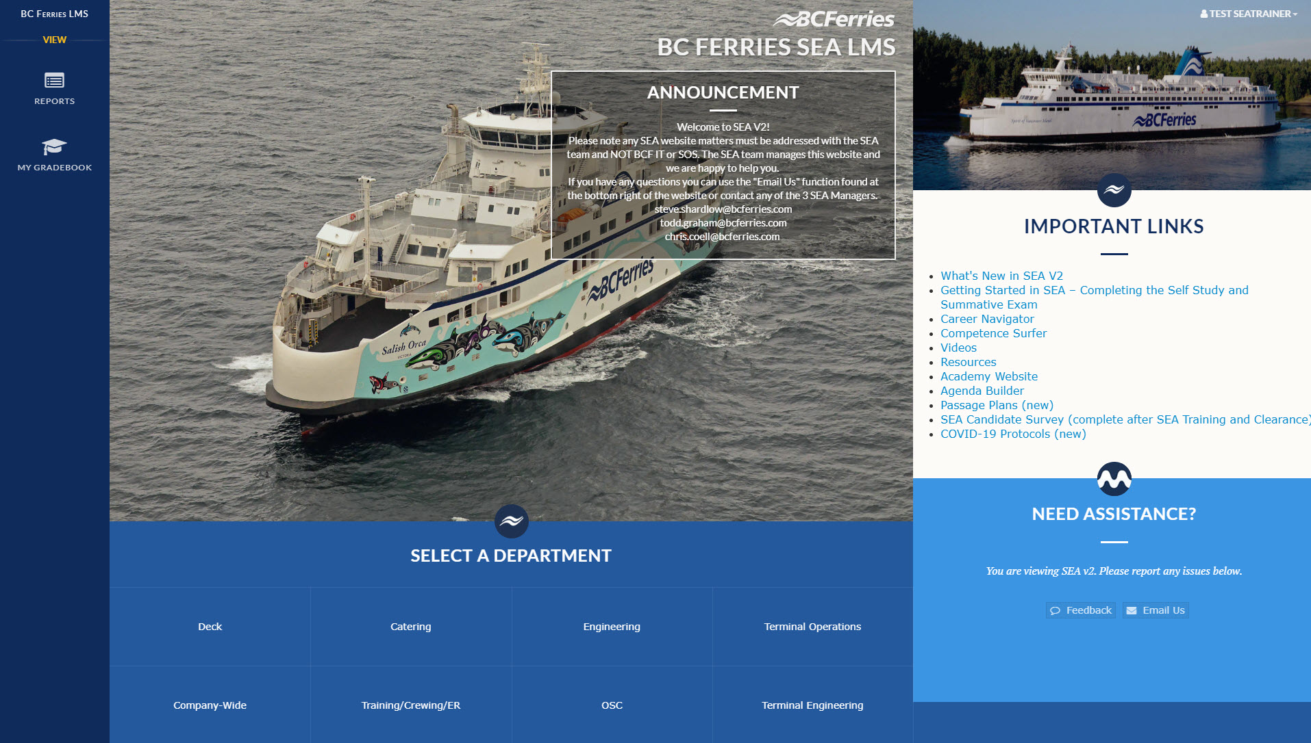 SEA-LMS-Homepage